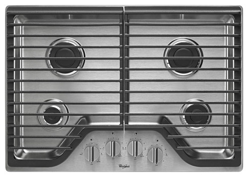 Whirlpool - 30 Built-In Gas Cooktop - Stainless Steel