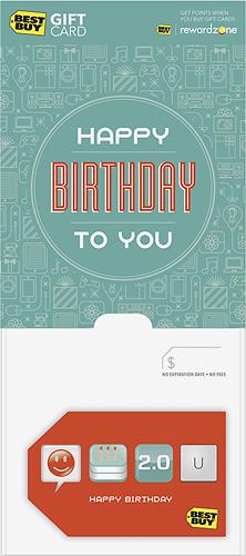 BestBuyGC - $25 Happy Birthday to You Gift Card - Multi