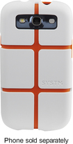 SYSTM by Incase - Chisel Case for Samsung Galaxy S III Cell Phones - White/Orange