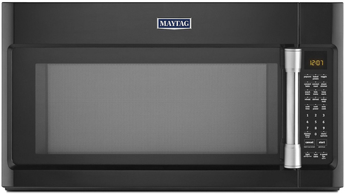 Maytag - 1.9 Cu. Ft. Over-the-Range Convection Microwave with Sensor Cooking - Black