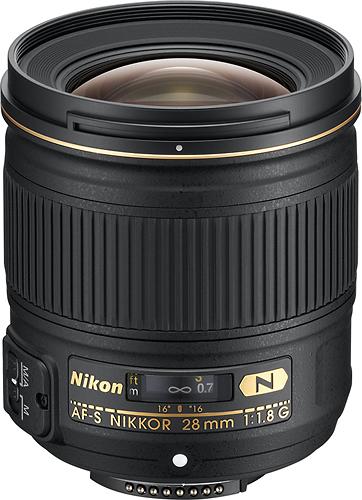 Nikon - AF-S NIKKOR 28mm f/1.8G Wide-Angle Lens - Black