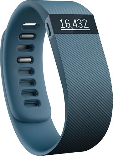 Fitbit - Charge Wireless Activity Tracker + Sleep Wristband (Large) - Slate