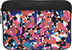 M-Edge - Printed Laptop Sleeve - Black/Orange/Pink
