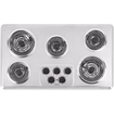 """Maytag - 36"""" Electric Cooktop - Brushed Chrome"""