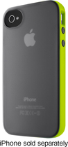 Belkin - Grip Candy Sheer Case for Apple® iPhone® 4 and 4S - Black/Green