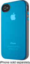 Belkin - Grip Candy Sheer Case for Apple® iPhone® 4 and 4S - Teal/Silver