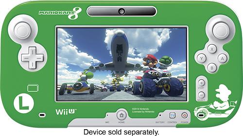 Hori - Luigi Mario Kart 8 Protector for Wii U GamePad Controllers - Green/Blue