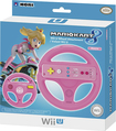 Hori - Peach Mario Kart 8 Racing Wheel Attachment for Wii and Wii U - Pink