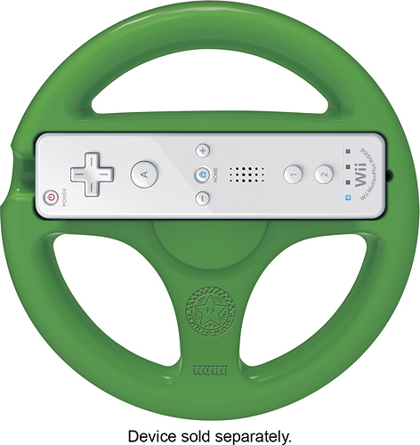 Hori - Luigi Mario Kart 8 Racing Wheel Attachment for Wii and Wii U - Green
