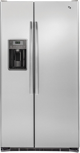 GE - 21.9 Cu. Ft. Side-by-Side Counter-Depth Refrigerator - Stainless Steel
