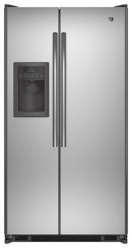 GE - 24.74 Cu. Ft. Side-by-Side Refrigerator - Stainless Steel