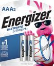 Energizer - Ultimate Lithium AAA Batteries (2-Pack) - Silver