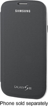 Samsung - Flip-Cover Case for Samsung Galaxy S III Cell Phones - Gray