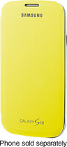 Samsung - Flip-Cover Case for Samsung Galaxy S III Cell Phones - Yellow