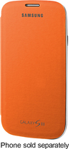 Samsung - Flip-Cover Case for Samsung Galaxy S III Cell Phones - Orange