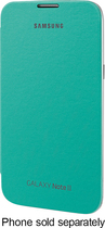Samsung - Flip-Cover Case for Samsung Galaxy Note II Cell Phones - Mint Green
