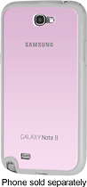Samsung - Protective Bumper Cover Plus Case for Samsung Galaxy Note II Cell Phones - Pink