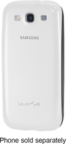 Samsung - Protective Cover Plus Case for Samsung Galaxy S III Cell Phones - White