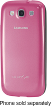 Samsung - Protective Cover Plus Case for Samsung Galaxy S III Cell Phones - Pink