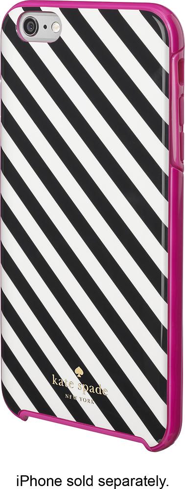 kate spade new york - Diagonal Stripe Hybrid Hard Shell Case for Apple® iPhone® 6 Plus - Black/Cream