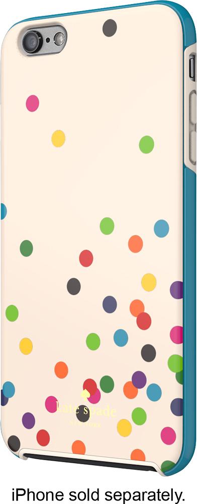 kate spade new york - Confetti Dot Hybrid Hard Shell Case for Apple® iPhone® 6 Plus - Cream/Black/Green/Blue/Pink/Yellow