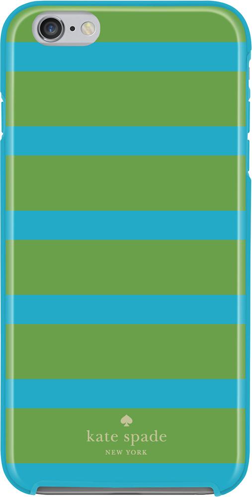 kate spade new york - Kinetic Stripe Hybrid Hard Shell Case for Apple® iPhone® 6 Plus - Blue/Green
