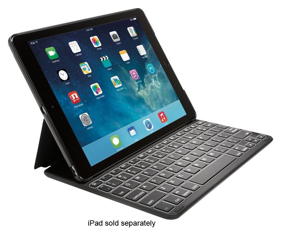 Kensington - KeyFolio Thin X2 Plus Case for Apple® iPad® Air - Black