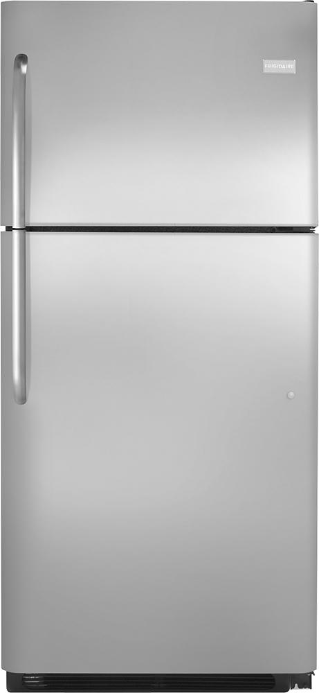 Frigidaire - 20.5 Cu. Ft. Top-Freezer Refrigerator - Stainless-Steel