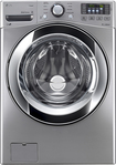 LG - 4.3 Cu. Ft. 9-Cycle Ultralarge-Capacity High-Efficiency Steam Front-Loading Washer - Graphite Steel