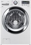 LG - 4.3 Cu. Ft. 9-Cycle Ultralarge-Capacity High-Efficiency Steam Front-Loading Washer - White