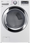 LG - SteamDryer 7.4 Cu. Ft. 10-Cycle Ultralarge-Capacity Steam Electric Dryer - White
