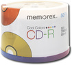 Memorex - Cool Colors 50-Pack 52x CD-R Disc Spindle - Multicolor
