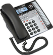 AT&T - Corded Speakerphone with Intercom and Caller ID/Call Waiting - Black/Silver