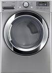 LG - SteamDryer 7.4 Cu. Ft. 10-Cycle Ultralarge-Capacity Steam Electric Dryer - Graphite Steel