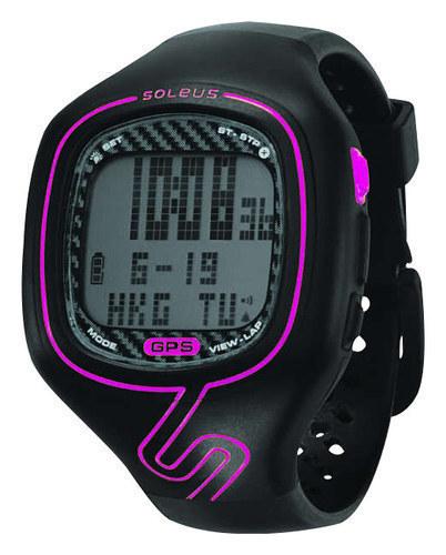 Soleus - GPS Vibe Watch - Black/Pink