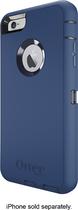 OtterBox - Defender Series Case with Holster for Apple® iPhone® 6 Plus - Admiral Blue