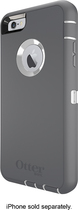 OtterBox - Defender Series Case with Holster for Apple® iPhone® 6 Plus - White/Gray