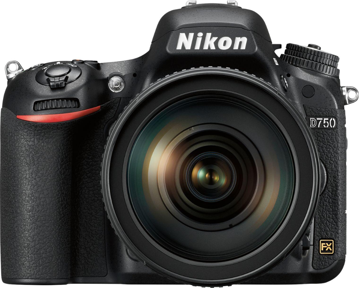 Nikon - 24.3 Megapixel Digital SLR Camera with Lens - 24 mm-120 mm Lens - Multi