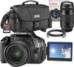 Canon - Rebel T3i DSLR Camera with EF-S 18-55mm f/3.5-5.6 IS and EF 75-300mm f/4-5.6 III Lenses - Black