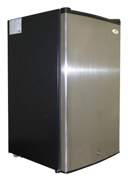SPT - 3.0 Cu. Ft. Upright Freezer - Stainless Steel/Black