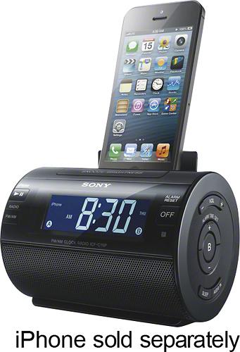 Sony - AM/FM Dual-Alarm Clock Radio