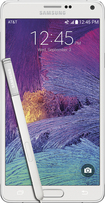 Samsung - Galaxy Note 4 4G Cell Phone - Frost White (AT&T)