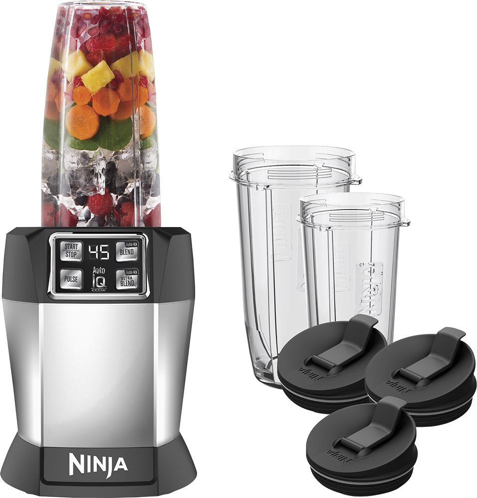 Ninja - Nutri Ninja Auto iQ Blender - Black