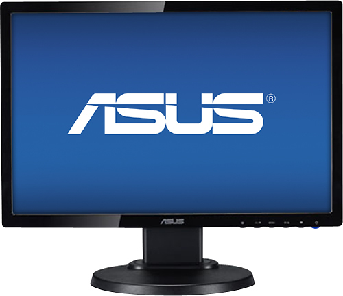 Asus - 19 LED HD Monitor - Black