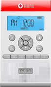 Eton - ZoneGuard AM/FM/Weather Alert Clock Radio - White
