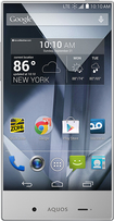 Sprint Prepaid - Sharp Aquos Crystal No-Contract Cell Phone - White