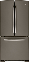 GE - 22.7 Cu. Ft. Frost-Free French Door Refrigerator - Slate