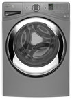 Whirlpool - Duet 4.3 Cu. Ft. 10-Cycle High-Efficiency Steam Front-Loading Washer - Chrome Shadow