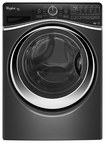 Whirlpool - Duet 4.5 Cu. Ft. 12-Cycle High-Efficiency Steam Front-Loading Washer - Black