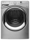 Whirlpool - Duet 4.5 Cu. Ft. 12-Cycle High-Efficiency Steam Front-Loading Washer - Diamond Steel